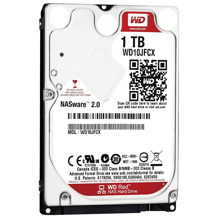 WD RED 1 TB Internal Hard Drive SATA 6Gb/s 2.5 Inch IntelliPower 16 MB Buffer OEM