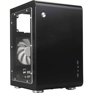 Legacy U2-B-Window Black Mini Tower Case w/ Window, 2x 3.5 / 1x 2.5 HDD, No ODD, Mini-ITX, 2 slots, No PSU, Aluminum