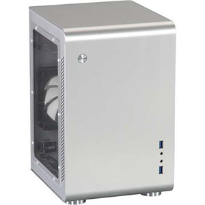 Legacy U2-S-Window Silver Mini Tower Case w/ Window, 2x 3.5 / 1x 2.5 HDD, No ODD, Mini-ITX, 2 slots, No PSU, Aluminum