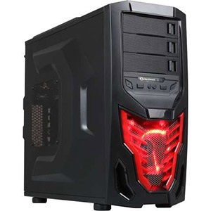 Cobra Z Black/Red Mid-Tower Case, ATX, No PSU, Steel/Plastic