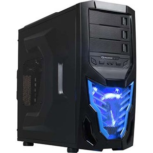 Cobra Z Black/Blue Mid-Tower Case, ATX, No PSU, Steel/Plastic