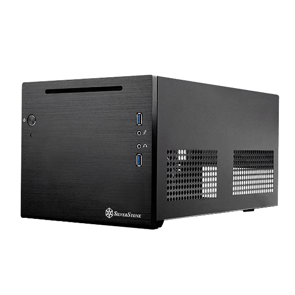 Sugo Series SST-SG08B-LITE, No PSU, Mini-ITX, Black, Mini Cube Case