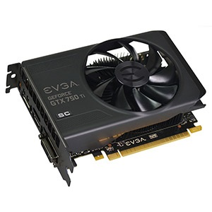 GeForce® GTX 750 Ti SuperClocked 1176-1255MHz, 2GB GDDR5 5400MHz, PCIe x16, DP + HDMI + DVI, Retail