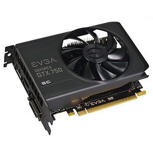 GeForce® GTX 750 SuperClocked 1215-1294MHz, 1GB GDDR5 5012MHz, PCIe x16, DP + HDMI + DVI, Retail