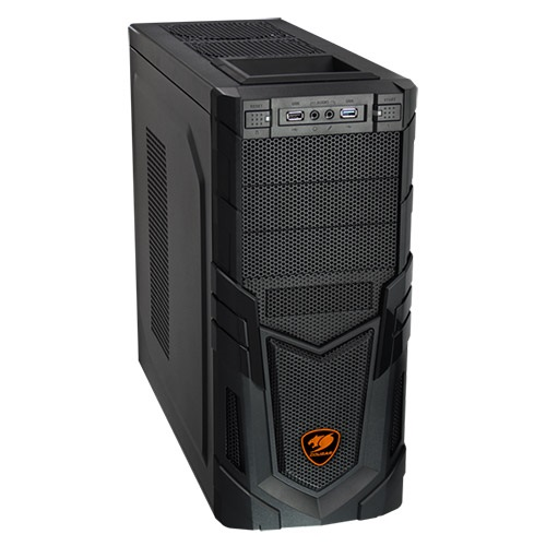 Volant Black Mid-Tower Case w/ Window, ATX / mATX, No PSU, Steel/Plastic