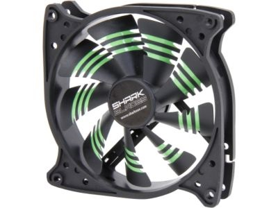 Shark Blade 120mm Cooling Case Fan Green