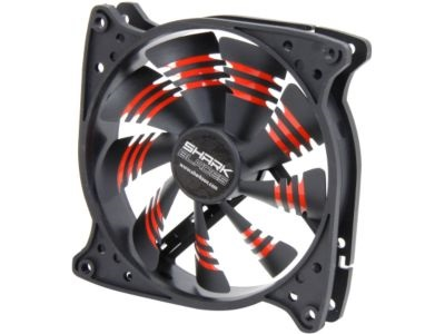Shark Blade 120mm Cooling Case Fan Red
