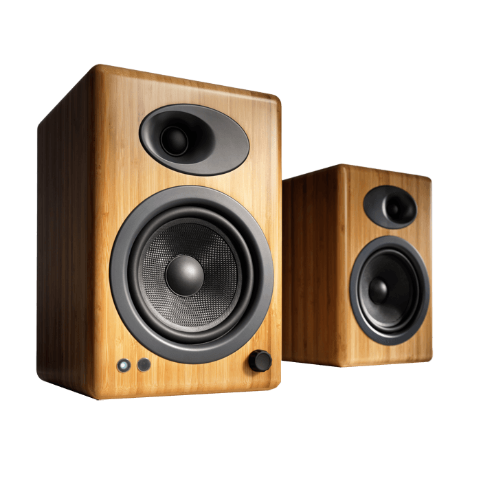 A5+ Bamboo, 100W RMS, Premium Powered Speakers