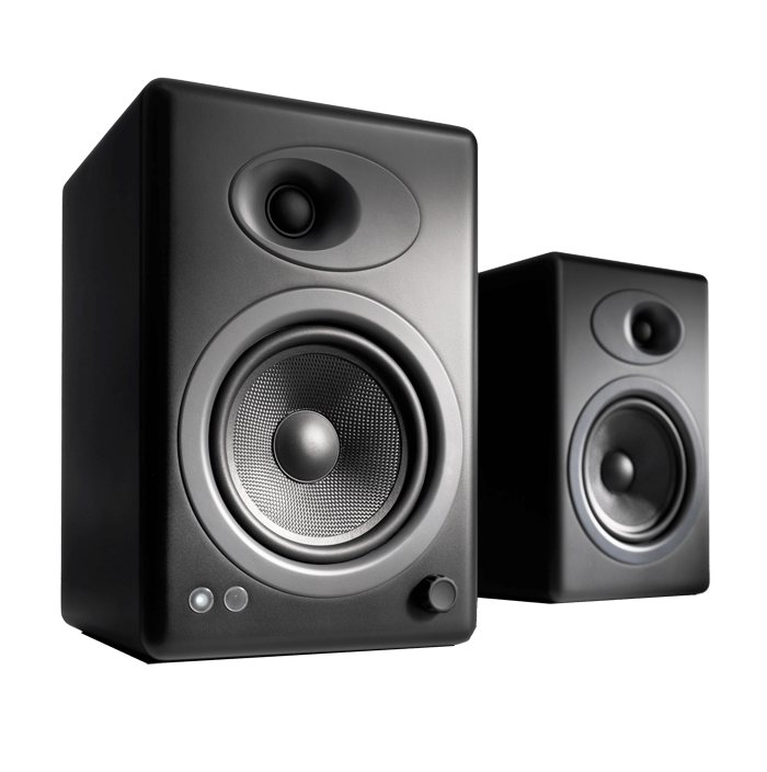 A5+ Black, 100W RMS, Premium Powered Speakers