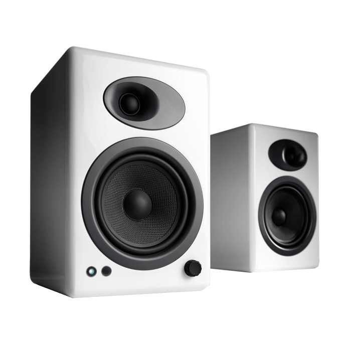A5+ White, 100W RMS, Premium Powered Speakers
