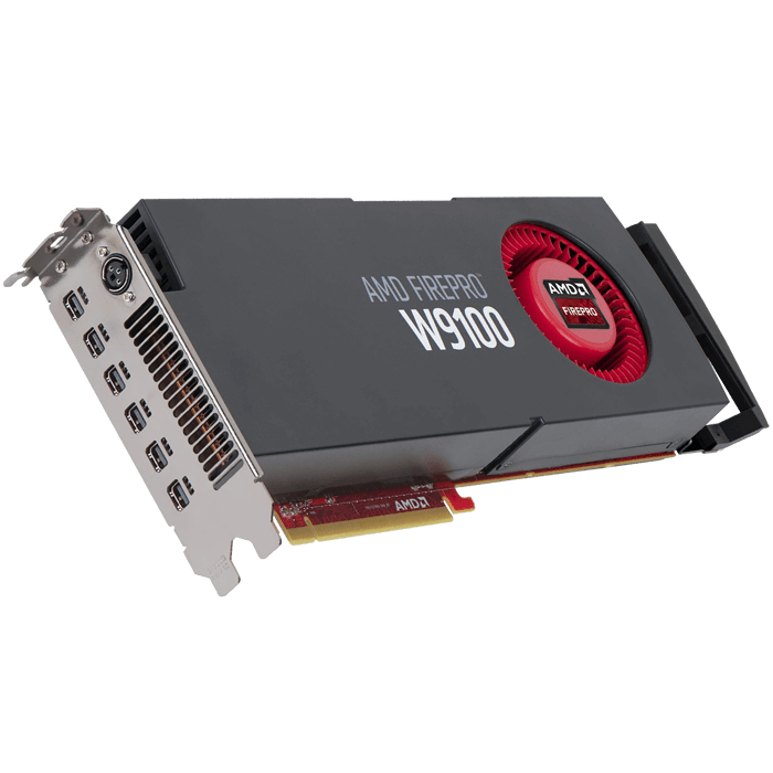 FirePro™ W9100, 16GB GDDR5, PCIe x16, 6x mini-DP +  Stereoscopic 3D-Out, Retail