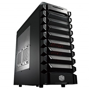 K550 (RC-K550-KWN1) Midnight Black Mid-Tower Case w/ Window, ATX / mATX, No PSU, Steel/Plastic