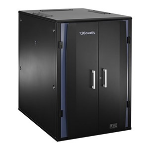 24U UCoustic™ 9210 Rack Cabinet w/ Thermostatic Cooling and Noise Reduction, 49.2-in H x 30.7-in W x 47.6-in D
