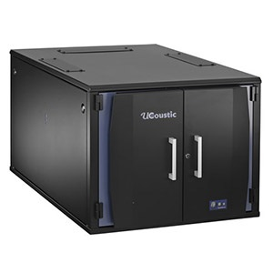 12U UCoustic™ 9210 Rack Cabinet w/ Thermostatic Cooling and Noise Reduction, 28.2-in H x 30.7-in W x 47.6-in D