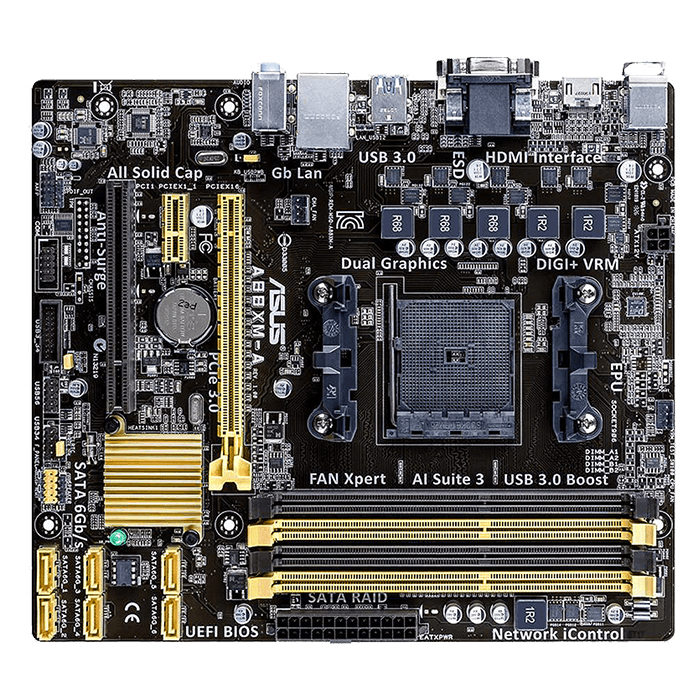 A88XM-E, AMD A88X Chipset, FM2+, DDR3 32GB, HDMI, microATX Retail Motherboard