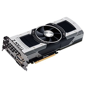 GeForce® GTX TITAN Z SuperClocked 732-915MHz, 12GB GDDR5 7000MHz, PCIe x16 SLI, DP + HDMI + 2x DVI, Retail