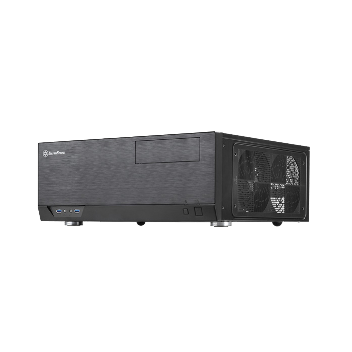 Grandia Series GD09 Black, No PSU, Plastic/Aluminum/Steel, ATX, Media Center, HTPC Case