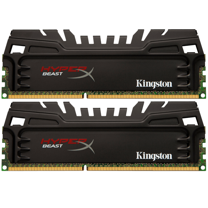 16GB Kit (2x8GB) HyperX Beast PC3 19200 DDR3 2400MHz CL11 1.65 V Intel XMP DIMM, Non ECC