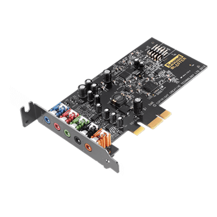 Sound Blaster AUDIGY FX, Internal, 5.1 channels, 24-bit 192KHz, w /Amplifier, PCI Express 2.0 x1, OEM Sound Card