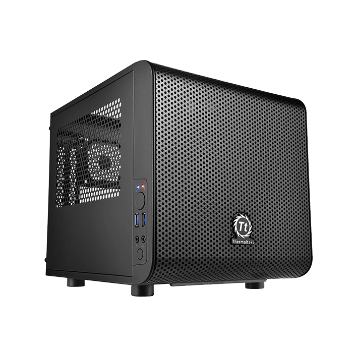 Core Series V1 w/ Window, No PSU, Mini-ITX, Black, Mini Cube Case