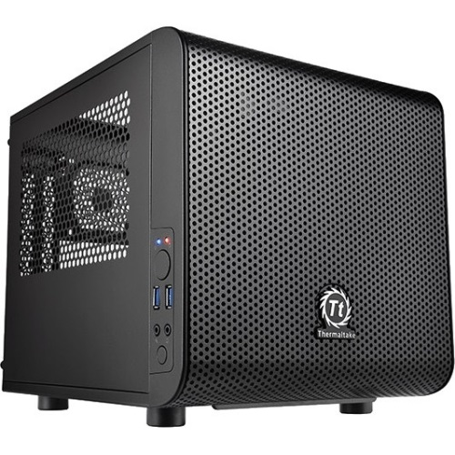 Core V1 Extreme w/ window, Compatible with air and Liquid Cooling Builds Mini ITX Cube Chassis