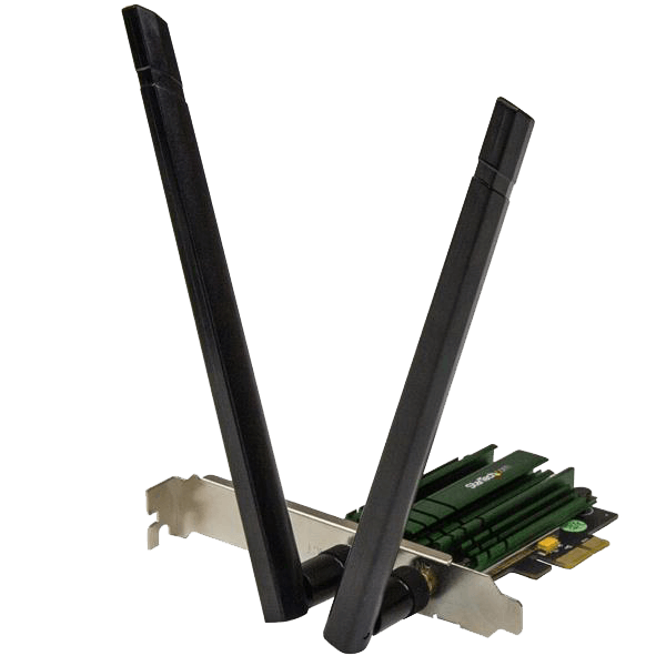 PEX867WAC22, Internal, IEEE 802.11ac/a/b/g/n, Dual-Band 2.4 / 5GHz, 300 / 867 Mbps, PCI Express 2.0 x1, Retail Wireless Adapter
