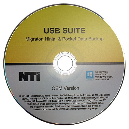 USB Suite 3-in-1 Software, Migrator, Ninja, Pocket Data Backup, OEM