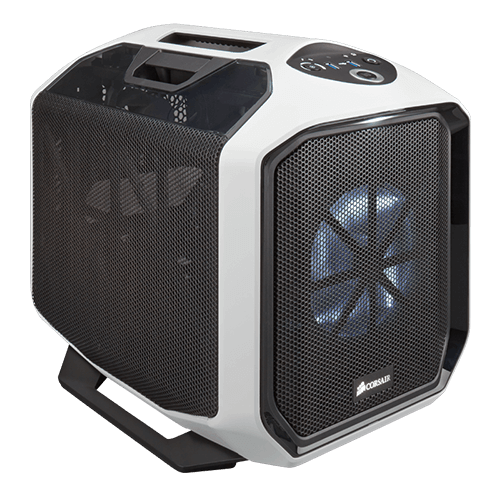 Graphite Series 380T Portable, No PSU, Mini-ITX, Black/White, Mini Cube Case