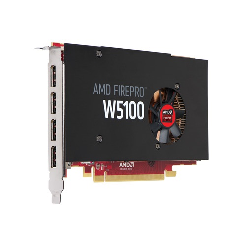 FirePro™ W5100, 4GB DDR5, PCIe x16, 4x DP, Full-height, Retail