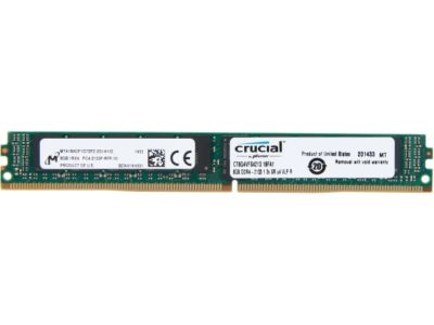 8GB Single-Rank PC4-17000 DDR4 2133MHz CL15 1.2V SDRAM DIMM, ECC Registered, VLP