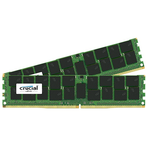 64GB (2 x 32GB) Dual-Rank PC4-17000 DDR4 2133MHz CL15 1.2V SDRAM DIMM, ECC Registered