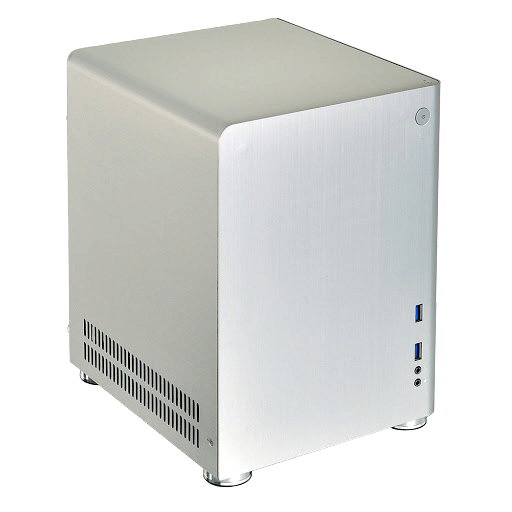 PC-Q01A, No PSU, Mini-ITX, Silver, Mini Tower Case