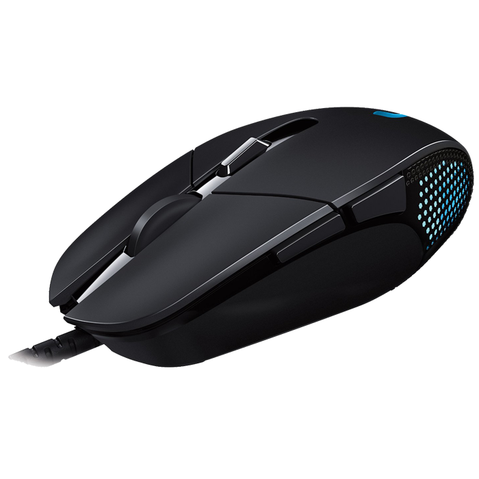 G302, Wired Gaming Mouse Metal Spring Button, 4000 dpi, Lightweight, Comfortable, Delta Zero Sensor Technology
