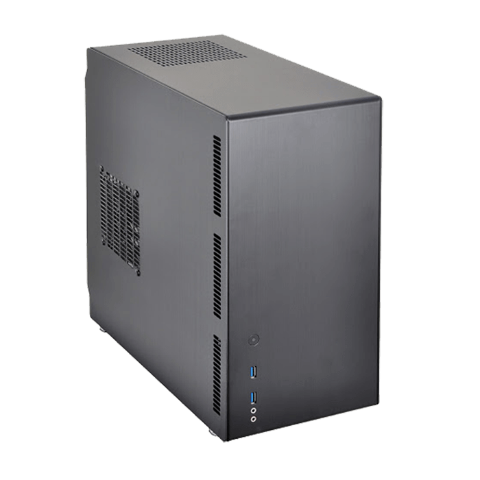 PC-Q26B, No PSU, Mini-ITX, Black, Mini Tower Case