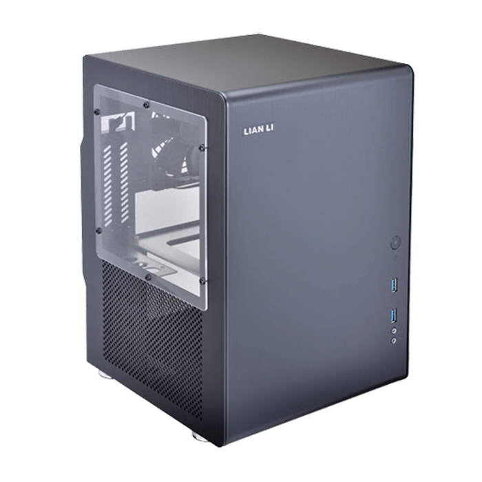 PC-Q33WB w/ Window, No PSU, Mini-ITX, Black, Mini Tower Case
