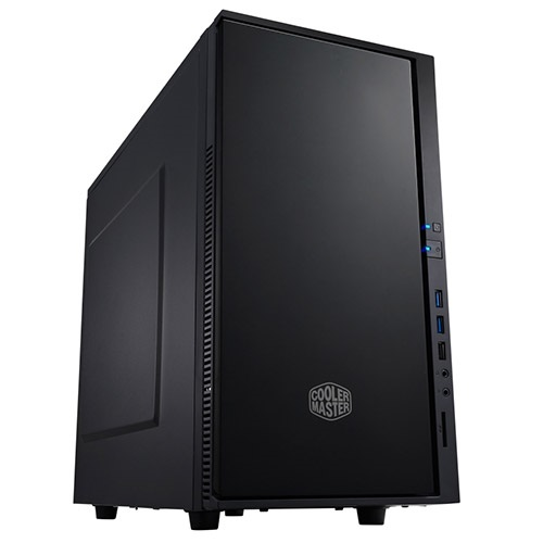 Silencio 352 (SIL-352M-KKN1) Midnight Black Mini-Tower Case, mATX/mini-ITX, No PSU, Steel/Plastic