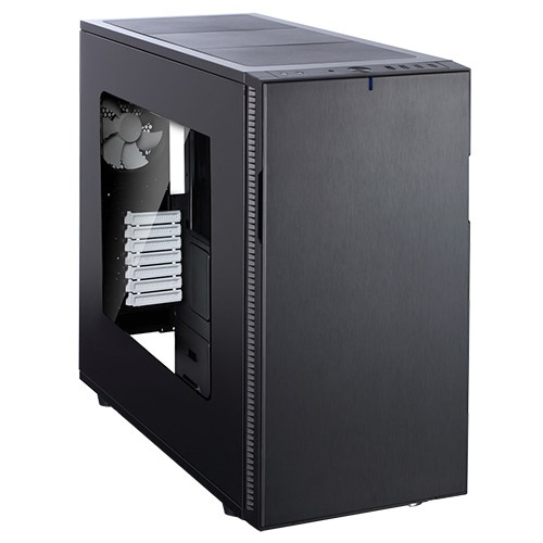 Define R5 Black Window Silent Mid-Tower Case, ATX, No PSU, Plastic/Steel