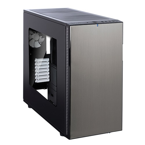 Define R5 Titanium Window Silent Mid-Tower Case, ATX, No PSU, Plastic/Steel