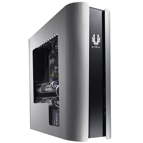 Pandora Window Silver/Black Mid-Tower Case, mATX, No PSU, Aluminum/Steel/Plastic