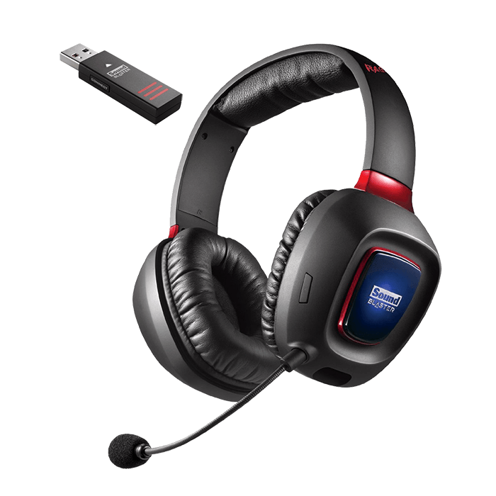 Sound Blaster Tactic3D Rage w/ Microphone, Wireless , Black, Retail Gaming Headset