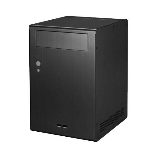 PC-Q07B Black No PSU Aluminum Mini-ITX Mini Tower Computer Case