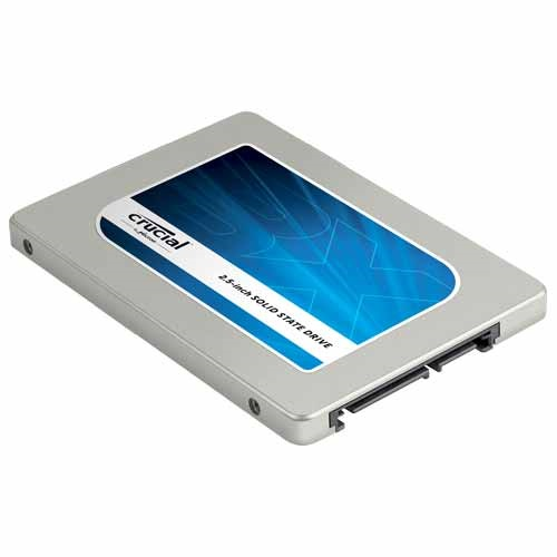1TB BX100 SSD, MLC Silicon Motion SM2246EN, 535/450 MB/s, SATA 6 Gb/s, 2.5-Inch, 7mm w/ 9mm Adapter, Retail