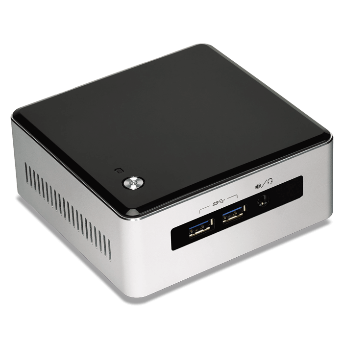 NUC5I5MYBE, Intel Core i5-5300U, 2x DDR3L SO-DIMM, M.2, Intel HD Graphics 5500, Mini PC Barebone 5 PAK