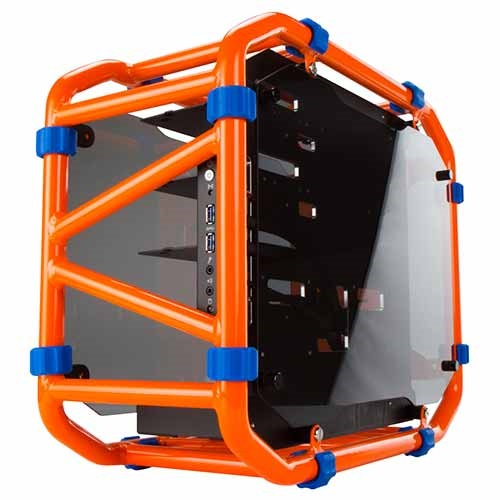 "D-Frame Mini Orange Mini-Tower Case, 3 x 3.5""/2.5"