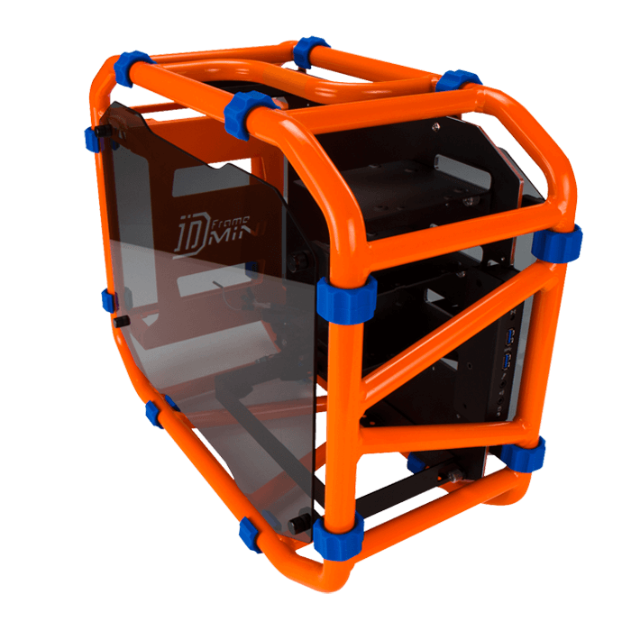 D-FRAME MINI w/ Window, No PSU, Mini-ITX, Orange, Mini Tower Case