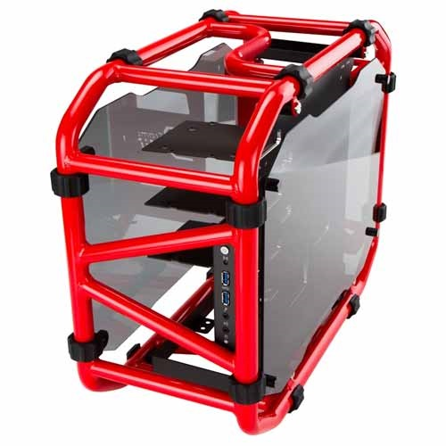 "D-Frame Mini Red Mini-Tower Case, 3 x 3.5""/2.5"
