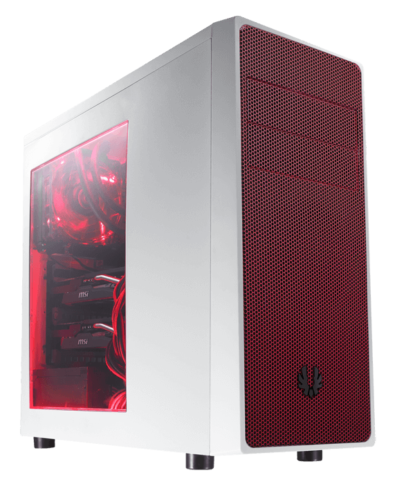Neos Series w/ Window, No PSU, ATX, White/Red, Mid Tower Case