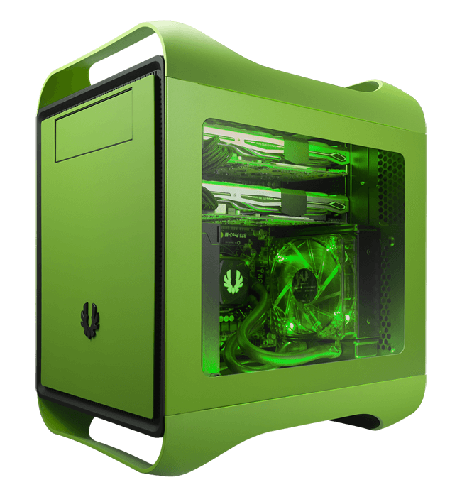 Prodigy M Series w/ Window, No PSU, microATX, Vivid Green, Mini Tower Case