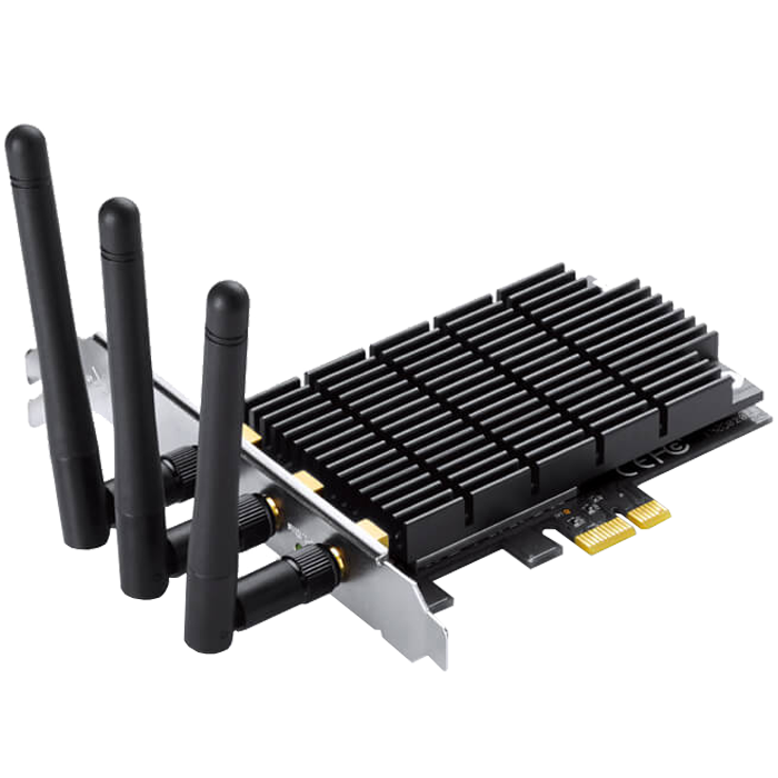 Archer T9E, Internal, IEEE 802.11a/ac/b/g/n, Dual-Band 2.4 / 5GHz, 600 / 1300 Mbps, PCI Express 2.0 x1, Retail Wireless Adapter