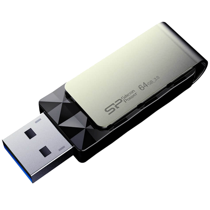 Blaze B30, 64GB, USB 3.0 Swivel Flash Drive, Black, Retail